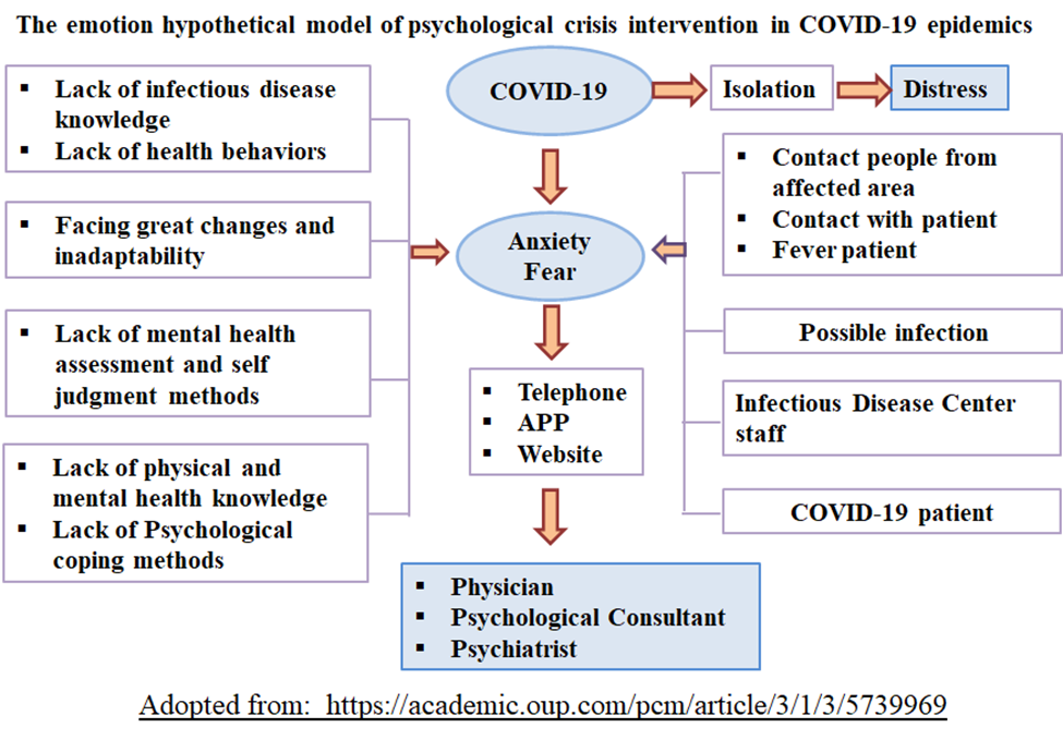 The emotion hypothetical model of psychological crisis intervention in COVID-19 epidemics