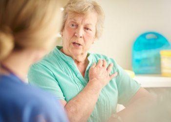 An Elderly woman with heart failure